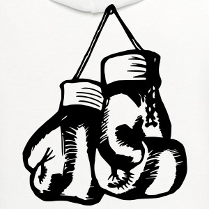 Boxing Gloves / Boxing Vector Design Women's T-Shirts - Contrast Hoodie