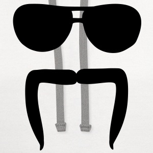 Mustache sunglasses Kids' Shirts - Contrast Hoodie