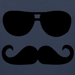 Mustache sunglasses Kids' Shirts - Men's Premium Tank