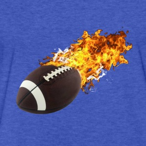 Flaming Football Sweatshirts - Fitted Cotton/Poly T-Shirt by Next Level