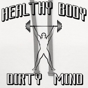 healthy body dirty mind - Contrast Hoodie