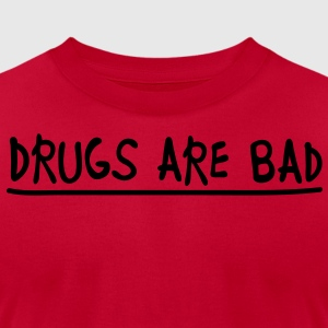 drugs_are_bad Long Sleeve Shirts - Men's T-Shirt by American Apparel