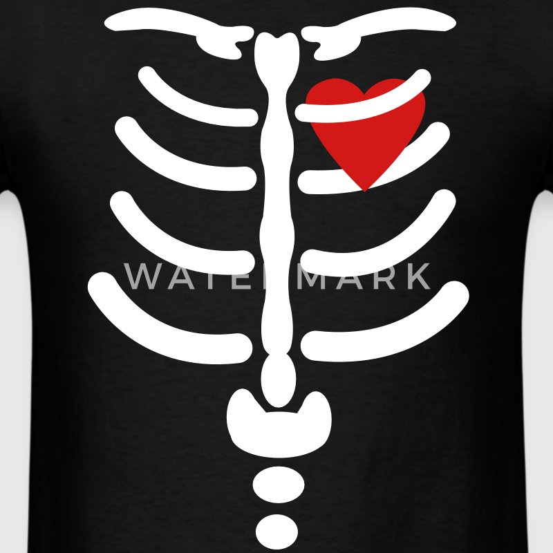 Skeleton / Rib / Heart Vector Design T-Shirts - Men's T-Shirt