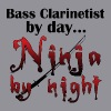 Bass Clarinet Ninja - Women's V-Neck T-Shirt