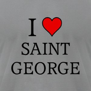 I love saint george - Men's T-Shirt by American Apparel