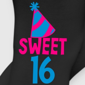 BIRTHDAY 16 SWEET SIXTEEN with a party hat T-Shirts - Leggings