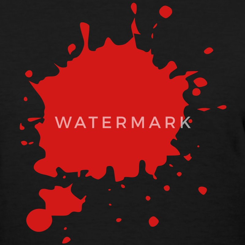 Blood / Ink / Graffiti Splatter Vector Women's T-Shirts - Women's T-Shirt