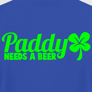 PADDY NEEDS A BEER shamrock green ST PATRICKS day design Tanks - Men's T-Shirt by American Apparel