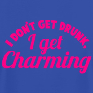 I Don't get DRUNK, I get CHARMING 1 color  Tanks - Men's T-Shirt by American Apparel