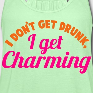 I Don't get DRUNK, I get CHARMING 2 color St Patrick's day party design T-Shirts - Women's Flowy Tank Top by Bella