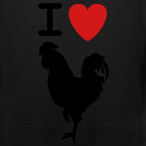 I love Cock shirt - Men's Premium Tank