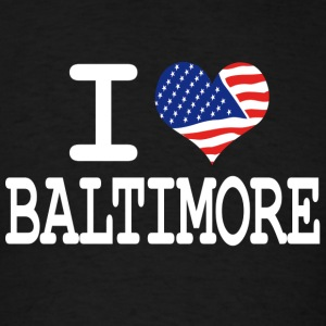 i love baltimore - white Hoodies - Men's T-Shirt
