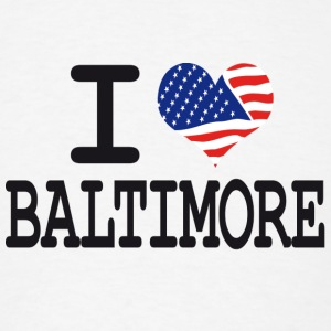 i love baltimore Buttons - Men's T-Shirt