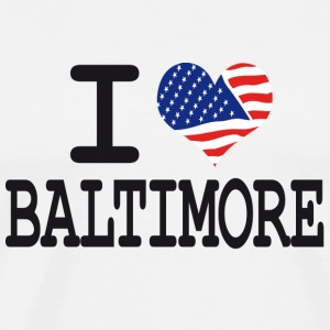 i love baltimore Buttons - Men's Premium T-Shirt