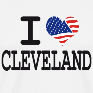 i love cleveland Hoodies - Men's Premium T-Shirt