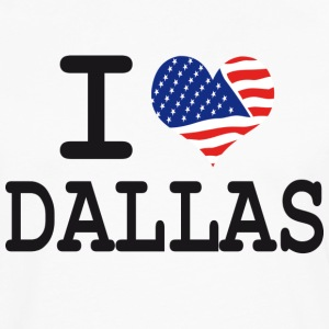 i love dallas Hoodies - Men's Premium Long Sleeve T-Shirt