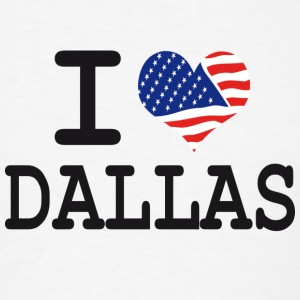 i love dallas Buttons - Men's T-Shirt