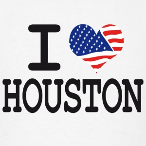 i love houston Hoodies - Men's T-Shirt