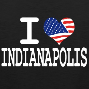 i love indianapolis - white Hoodies - Men's Premium Tank