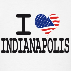 i love indianapolis Hoodies - Men's T-Shirt