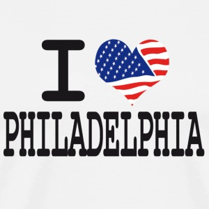 i love philadelphia Hoodies - Men's Premium T-Shirt