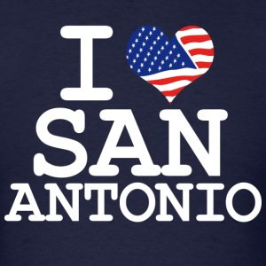 i love san antonio - white Hoodies - Men's T-Shirt