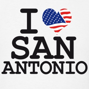 i love san antonio Hoodies - Men's T-Shirt