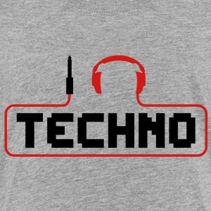 I Love Techno headphones music minimal gabber club bass beat hardcore Sweatshirts - Toddler Premium T-Shirt