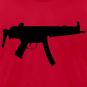 MP5 / Rifle / Military Vector Design Hoodies - Men's T-Shirt by American Apparel