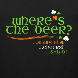 Where's The Beer - Irish Cheer - Men's Premium Tank