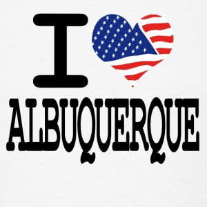 i love albuquerque Buttons - Men's T-Shirt