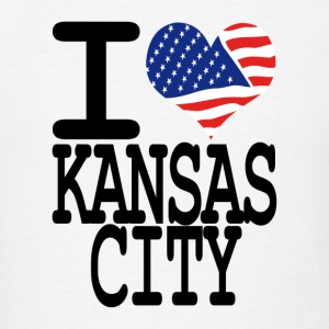 i love kansas city Hoodies - Men's T-Shirt