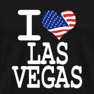 i love las vegas - white Hoodies - Men's Premium T-Shirt