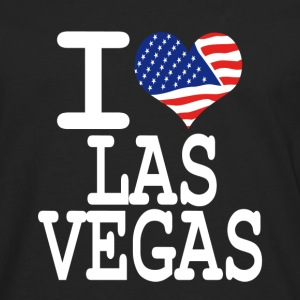 i love las vegas - white Hoodies - Men's Premium Long Sleeve T-Shirt