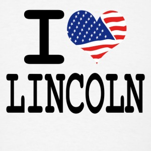 i love lincoln Buttons - Men's T-Shirt