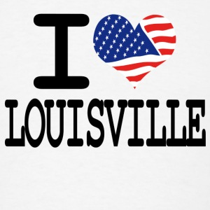 i love louisville Buttons - Men's T-Shirt