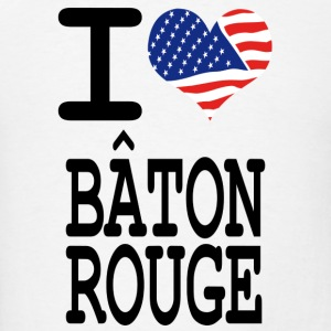 i love baton rouge Hoodies - Men's T-Shirt