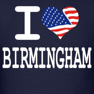 i love birmingham - white Hoodies - Men's T-Shirt