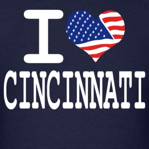 i love cincinnati - white Hoodies - Men's T-Shirt