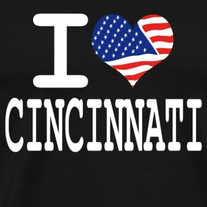 i love cincinnati - white Hoodies - Men's Premium T-Shirt