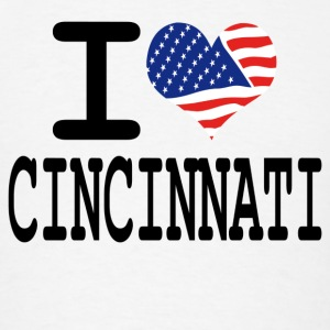 i love cincinnati Hoodies - Men's T-Shirt