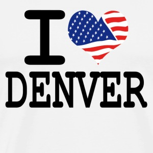 i love denver Hoodies - Men's Premium T-Shirt