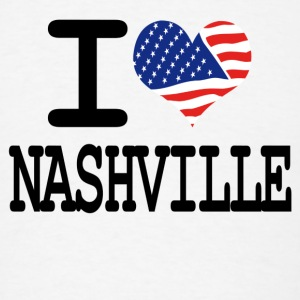 i love nashville Buttons - Men's T-Shirt