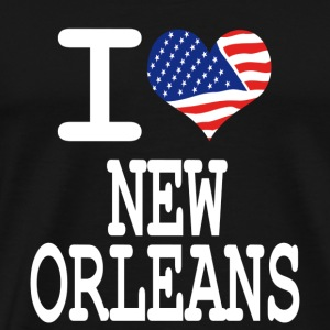 i love new orleans - white Hoodies - Men's Premium T-Shirt