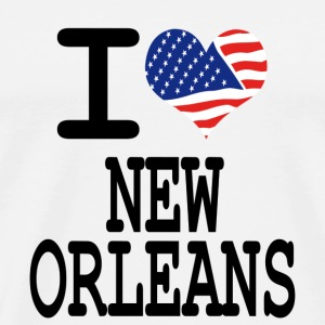 i love new orleans Buttons - Men's Premium T-Shirt