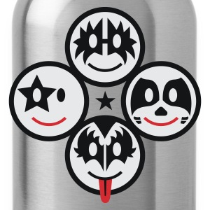 Smile Rock - Smiley Icons (quadratic) 3c T-Shirts - Water Bottle
