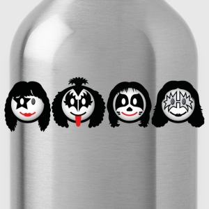 Smile Rock - Smiley Icons (dd print) T-Shirts - Water Bottle