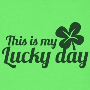 THIS IS MY LUCKY DAY shamrock clover leaf Baby Bodysuits - Men's T-Shirt