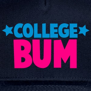 college bum unemployed Baby Bodysuits - Snap-back Baseball Cap