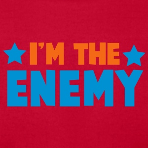 i'm the enemy with stars family label design Baby Bodysuits - Men's T-Shirt by American Apparel